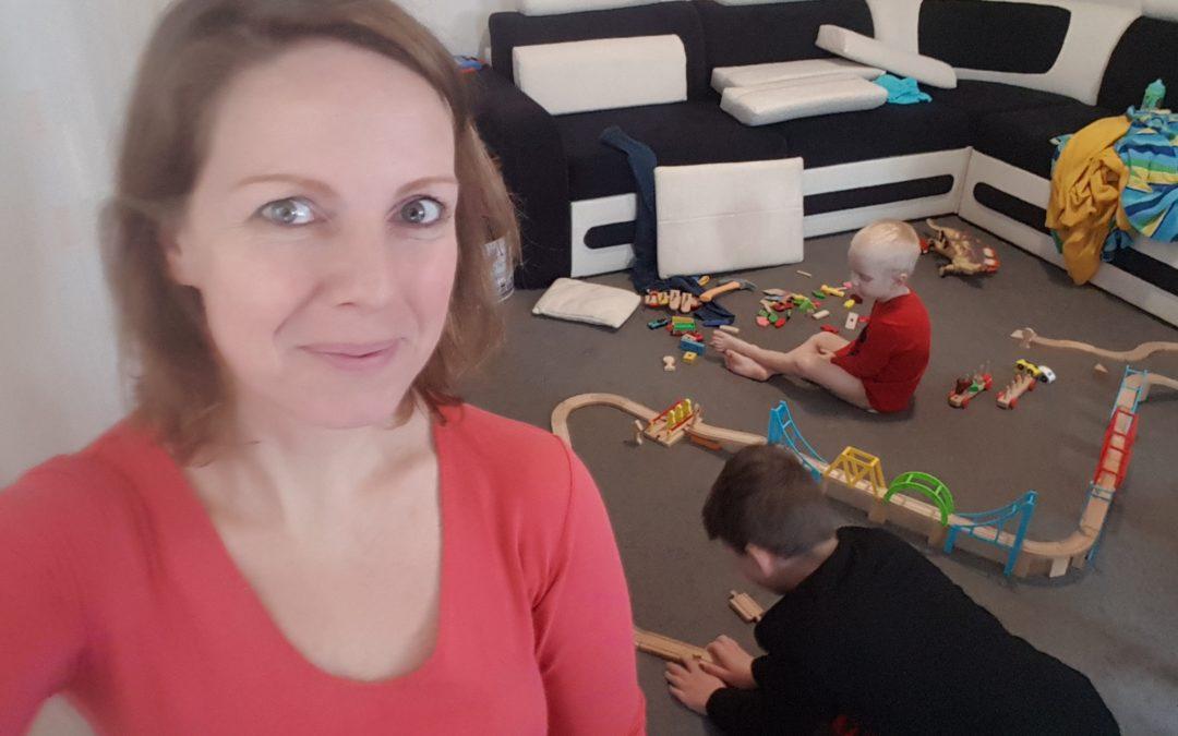 építőkockák gyerekek anya